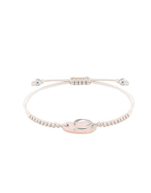 Shankla white gold pink bracelet
