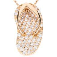 Exclusiva shankla de diamantes de oro rosa